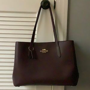 Coach Large Leather Avenue Carryall Oxblood